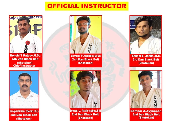 OFFICIAL SHOTOKAN KARATE INSTRUCTOR OF KTR MARTIAL ARTS ACADEMY INTERNATIONAL