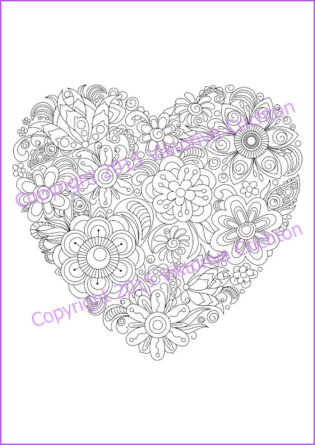 Adult-coloring-page-doodle-flowers-heart