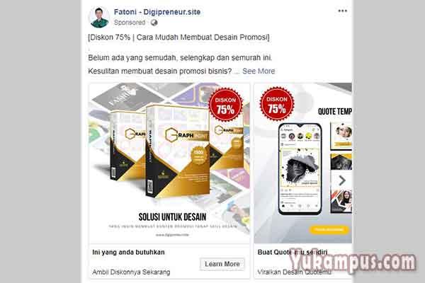 5 Contoh Iklan Facebook Ads Yang Menarik Konsumen Yukampus