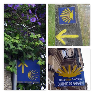 sinalizações do Caminho de Santiago