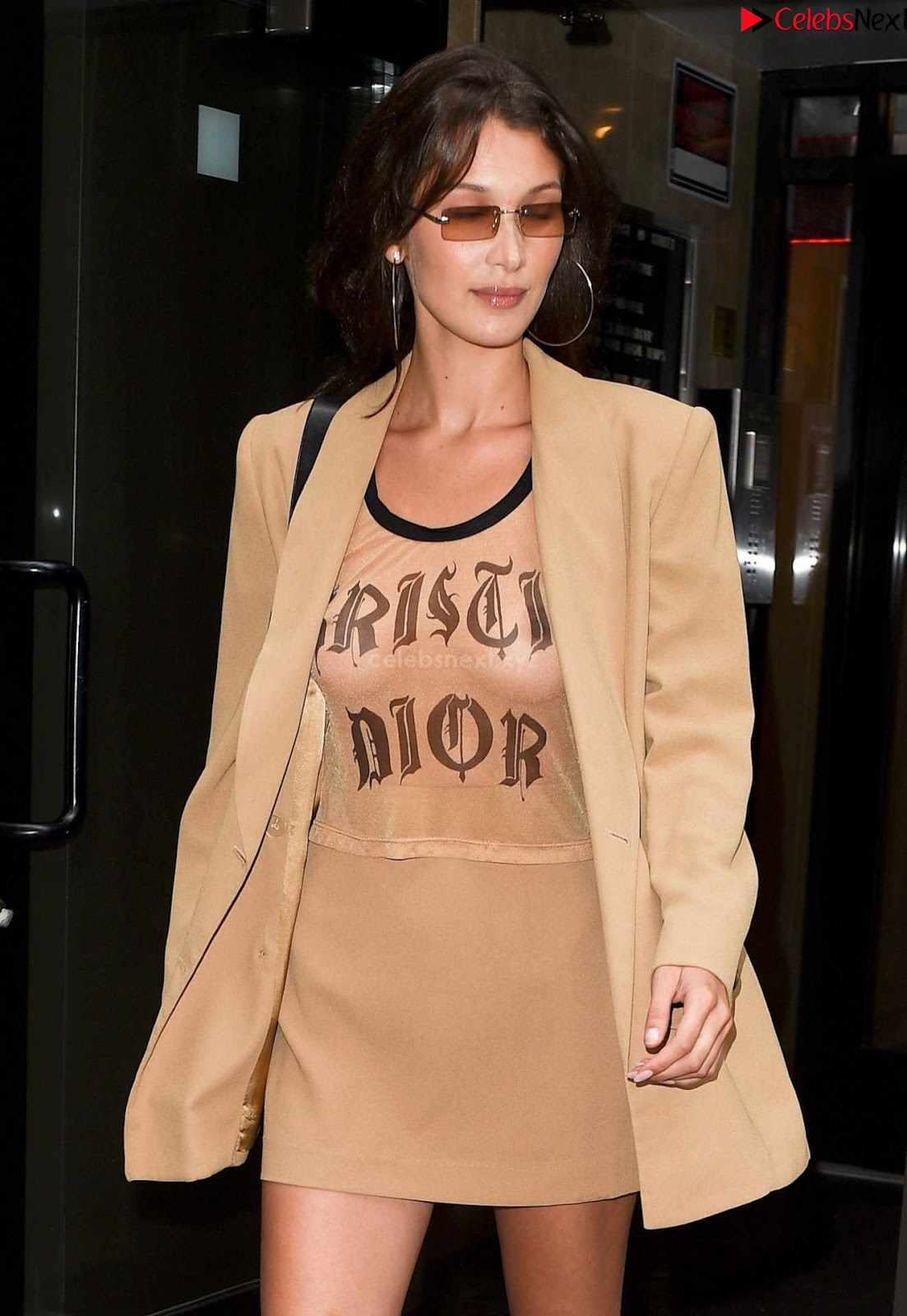 Bella Hadid See Through Top beautiful soft boobs and nipples in transparent top ~ CelebrityBooty.co Exclusive