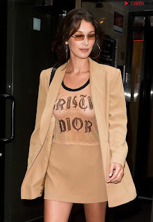 Bella Hadid See Through Top beautiful soft  and s in transparent top ~ Celebrity.co Exclusive