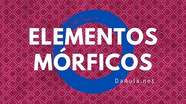Língua Portuguesa: O que são Elementos Mórficos