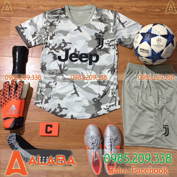 Áo CLB Juventus 2019 màu xám ( mẫu training)