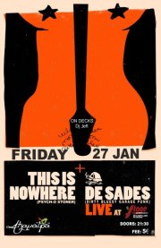 27 & 28 January : This Is Nowhere, De Sades Live In Larissa & Thessaloniki