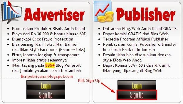 Memasang Iklan Pada Blog Dari IklanBlogger.com 1 - Ficri Pebriyana