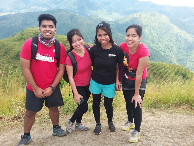 With fellow hikers we met in the summit