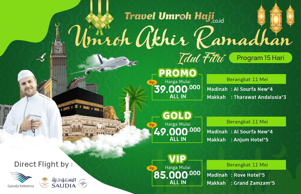 Promo Paket Umroh Biaya Murah Jadwal Akhir Bulan Ramadhan 2020 15 Hari