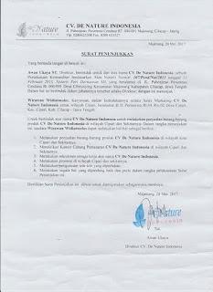 Informasi Rekening Agen Resmi De Nature Indonesia