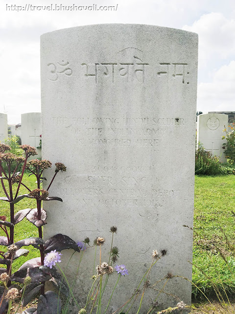 WWI Soldiers Indian Graves in Zantvoorde British Cemetery