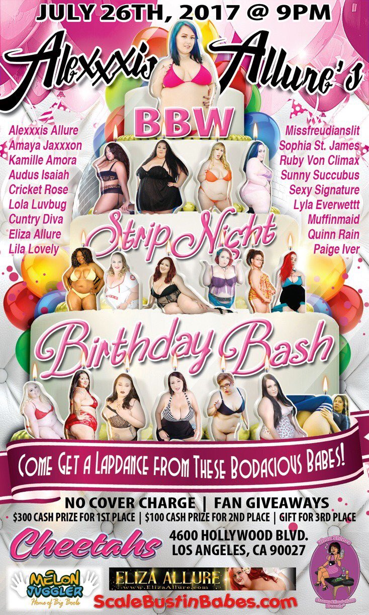 Alexxxis Allure's BBW Strip Night Birthday Bash