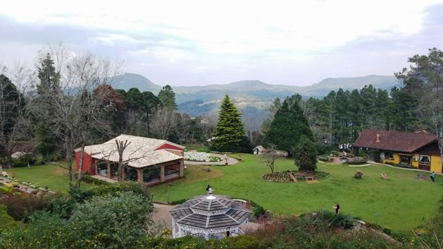 Vista do Le Jardin Parque de Lavanda em Gramado, na Serra Gaúcha