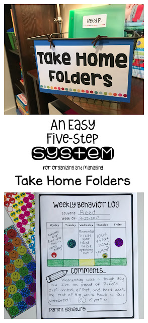Labeling and organizing student homework folders