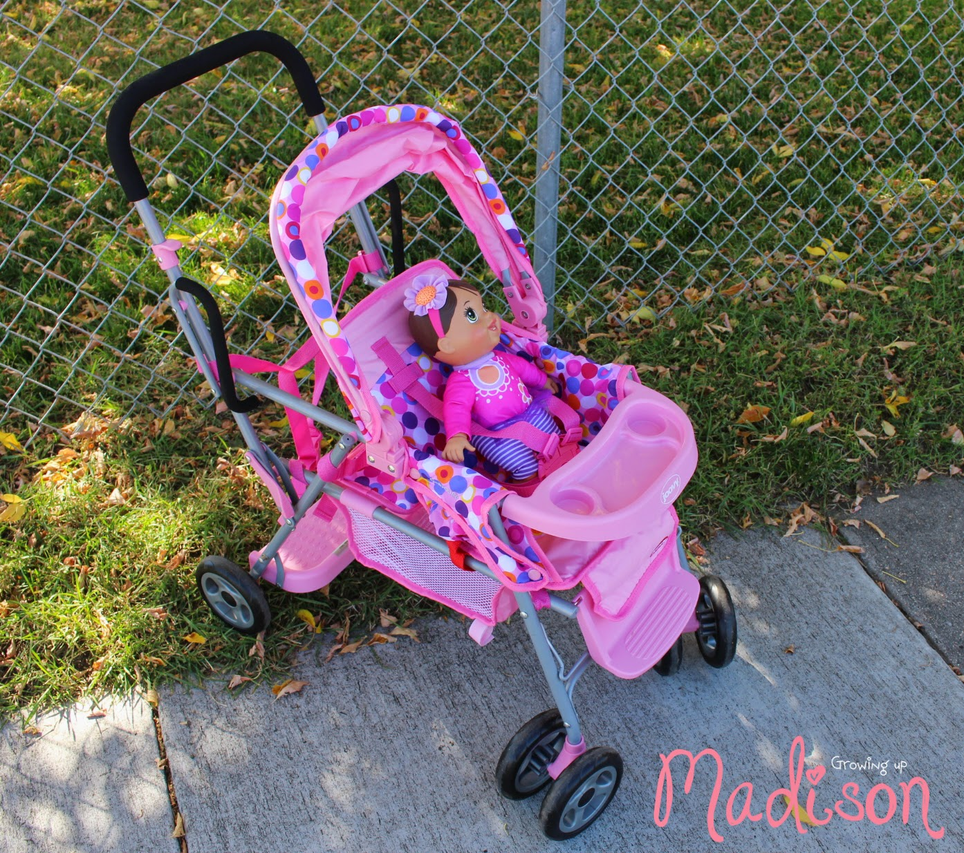 joovy toy doll caboose tandem stroller the only stroller your doll will need annmarie john. Black Bedroom Furniture Sets. Home Design Ideas
