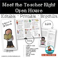 back to school, meet the teacher night, teacher resources