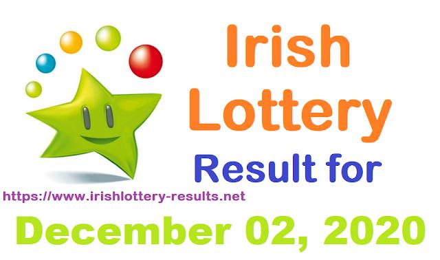 Irish Lottery Result for Wednesday, December 02, 2020