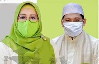 Pasangan Calon Walikota dan Calon Wakil Walikota Mataram, Hj Putu Selly Andayani dan H Abdul Manan