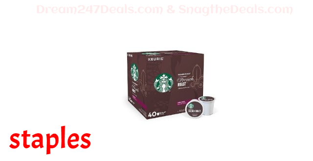 Starbucks French Roast Coffee, Keurig Single Serve K-Cup Pods, 40 Count (380670)
