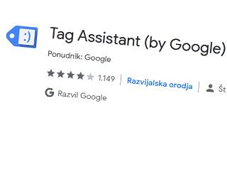 google tag assistant pripomocek za brskalnik