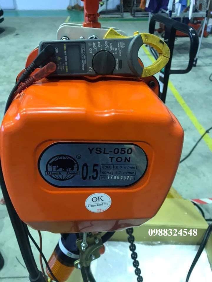 Pa lăng điện xích Black Bear YSL-050 0.5 tấn