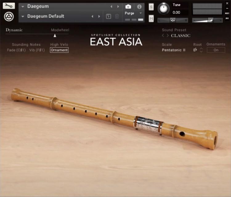 Interface da Library Native Instruments - Spotlight Collection: EAST ASIA 1.0 (KONTAKT)