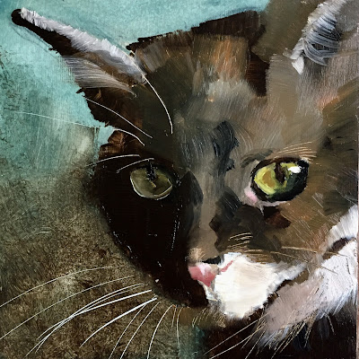 cat painting by Philine van der Vegte