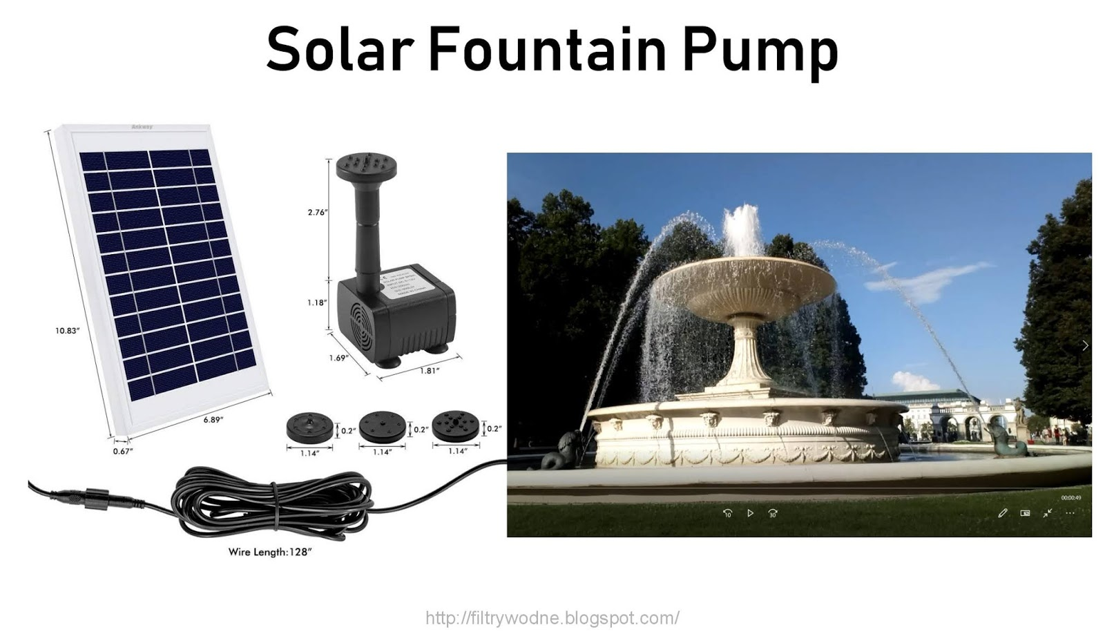 Solar Fountain Pump Water Filters Air Filters Filter System Solar Fountain Pump