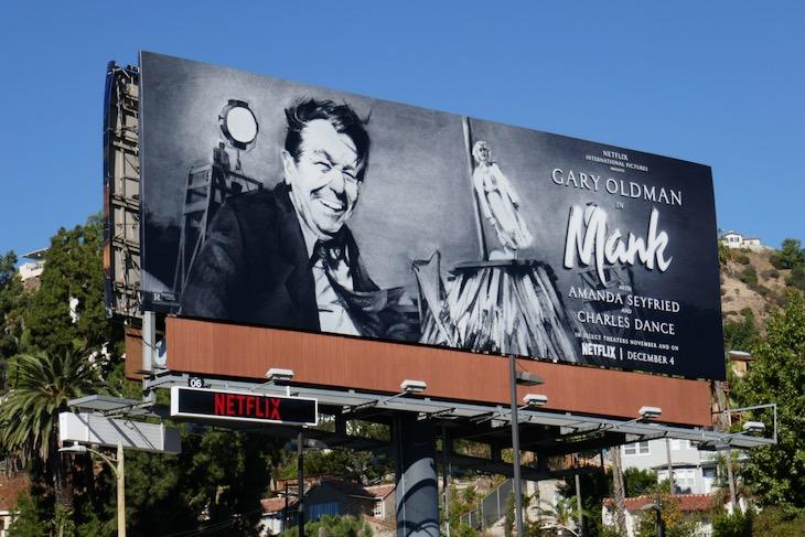 Mank Netflix movie billboard