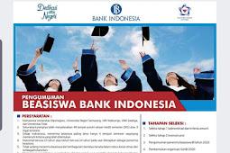 Beasiswa Bank Indonesia Tahun 2020 Untuk Mahasiswa UNDIP dan Beberapa Univ Lainnya