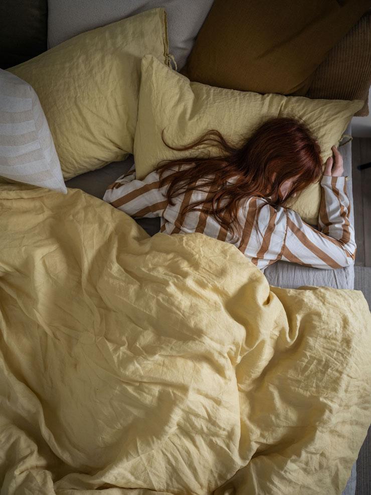 ropa de cama de lino de IKEA 21: más sostenible.
