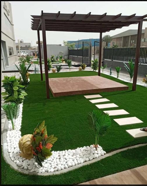 تنسيق حدائق الاستراحات في الرس