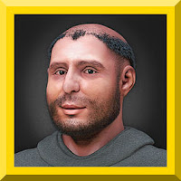 Saint Anthony of Padua, from the 2014 computer based forensic reconstruction of the face of Saint Anthony of Padua based on a digital version of his skull.