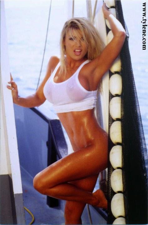 Hot blonde fitness model naked