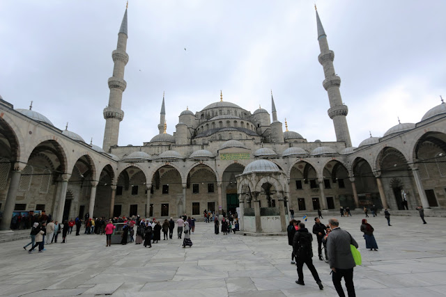 Blue Mosque at Sultanahmet Square in Istanbul, Turkey