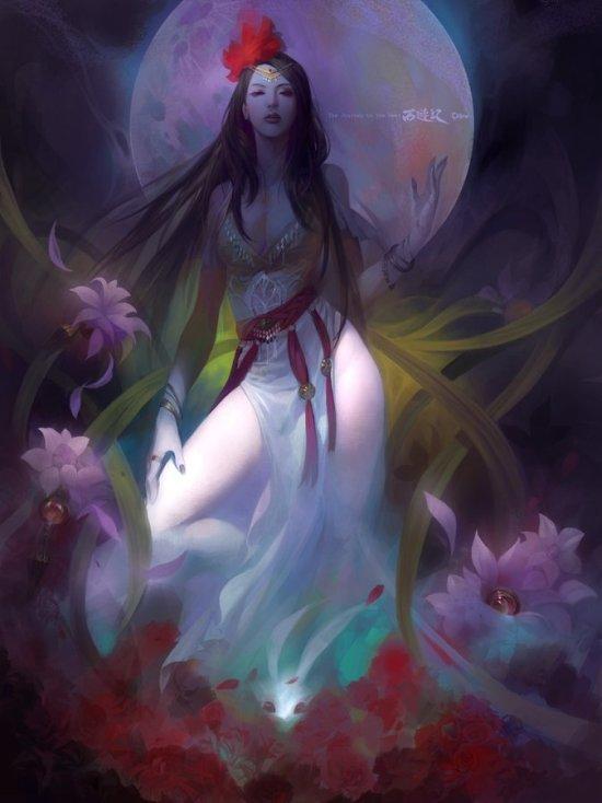 Wei Feng artstation ilustrações fantasia mitologia chinesa