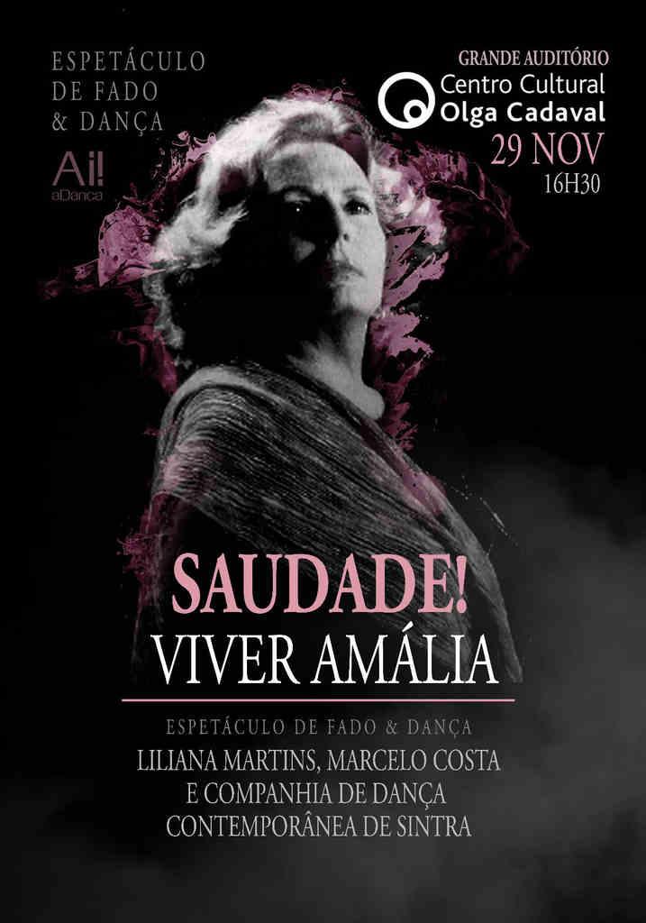 """""""Saudade! Viver Amália"""" é um espetáculo de Fado & Dança"""