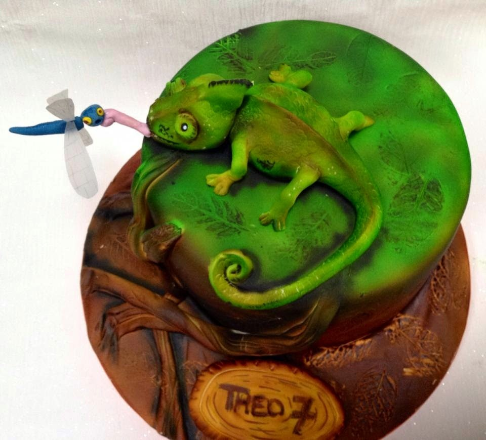 The Perfectionist Confectionist Theo S Lizard Birthday Cake