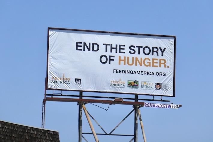 End story of Hunger Feeding America billboard