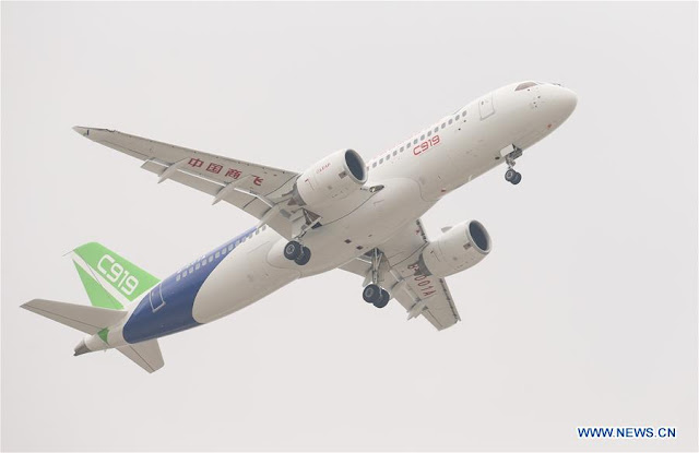 China's 1st big passenger jet completes maiden flight