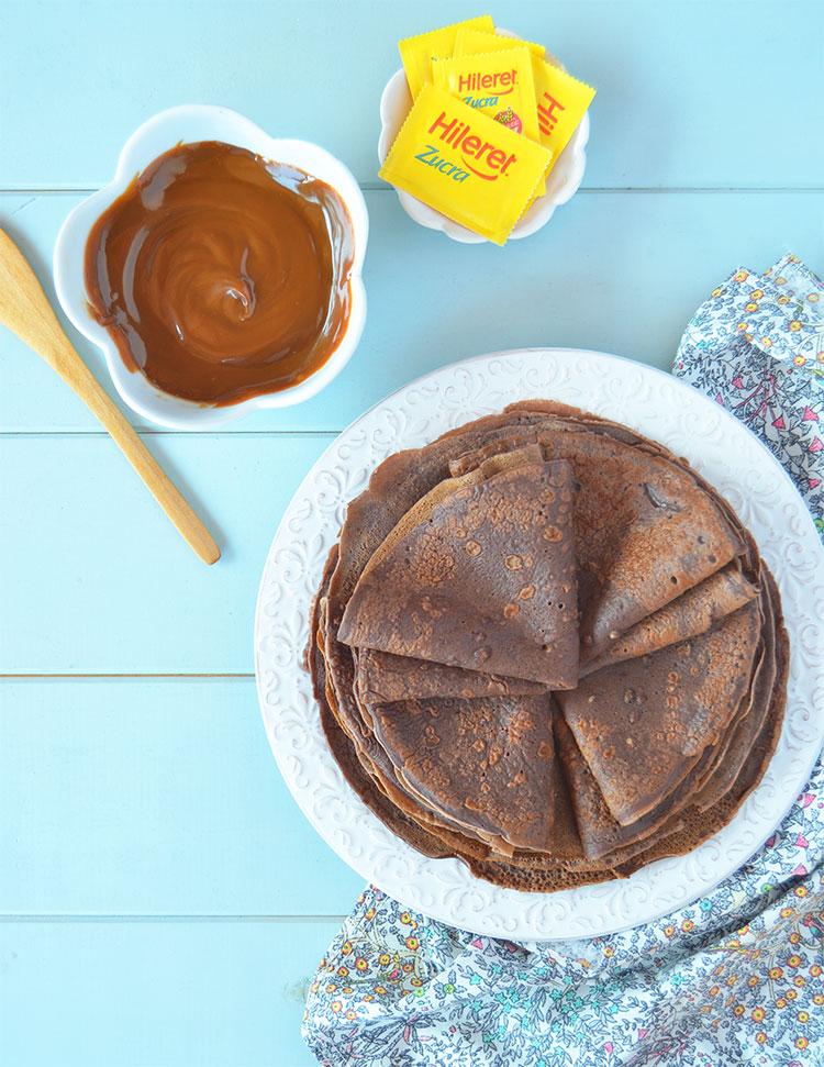 Panqueques de chocolate sin azúcar