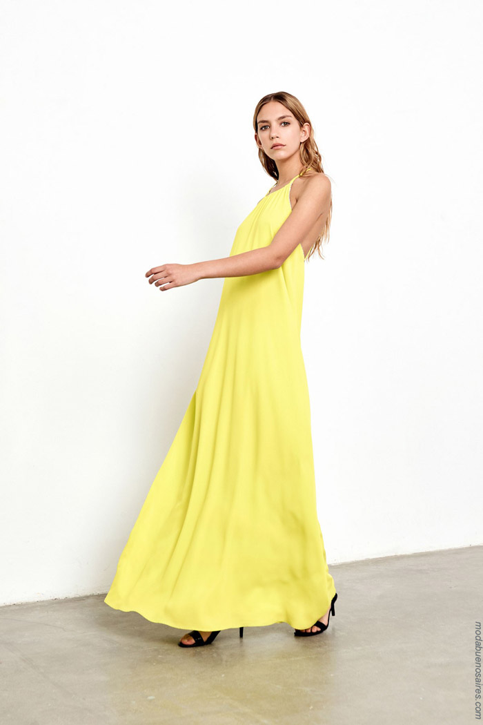 Vestidos largos moda mujer verano 2020.