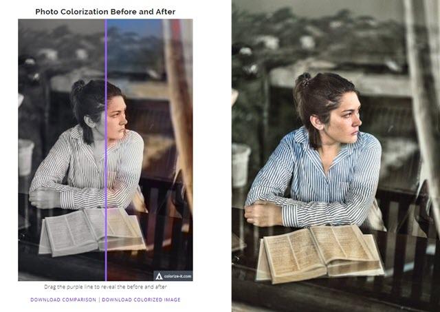 colorazione delle foto con algorithmia