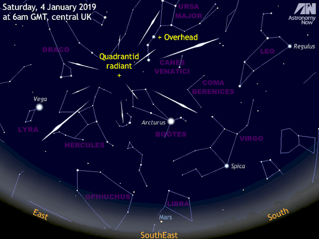 Don't miss the Quadrantid meteor shower peak on 4 January 2019. Image Credit: Astronomy Now
