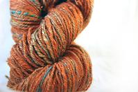Nancy Tranter Handspun Art Yarn Copper chain ply, 3 ply dk to light worsted