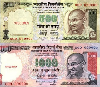 Deposit your Old Indian Rupee Notes Rs.500 and Rs.1000 in the Banks