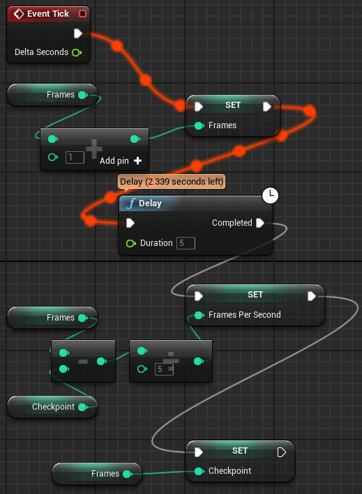 Romero Blueprints: Tick Event and Latent Actions in Blueprints