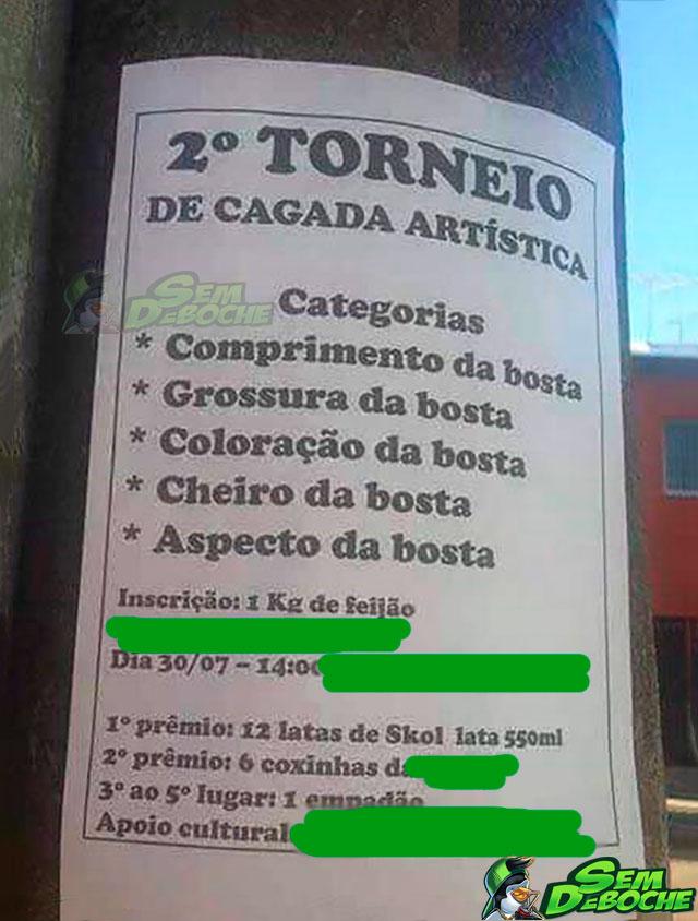 TORNEIO DE CAGADA