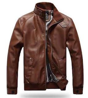 model jaket kulit untuk pria taiwan dengan warna coklat