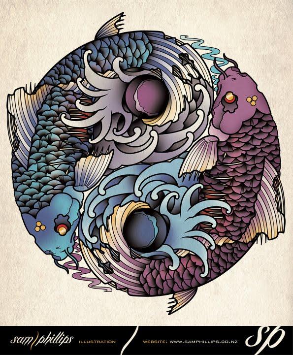 Yin Yang Fish Tattoo