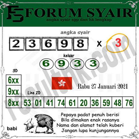 Forum Syair HK Rabu 27-Jan-2021